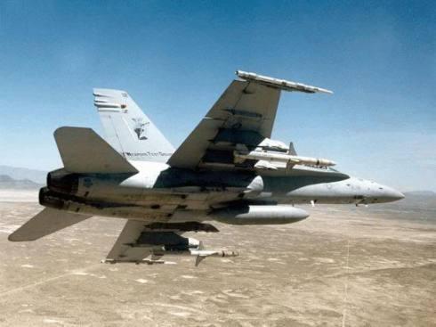 FA-18 Fighter Jet.